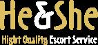 He & She Escort Service Logo